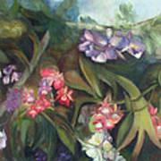 Orchids I Poster by Susan Hanlon