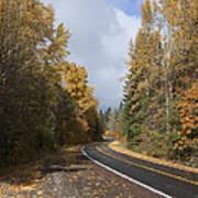 Oregon Autumn Highway Poster