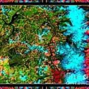 Oregon Cascades Nasa Satellite Poster