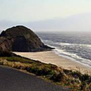 Oregon Coast And Fog Poster