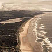 Oregon Coast From Above Poster