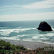 Oregon Coast Ghost Surfer Poster
