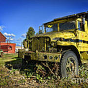Oregon Yellow Truck Poster