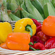 Organic Sweet Bell Peppers Poster