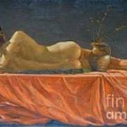 Original Classic Oil Painting Man Body Art-male Nude-038 Poster