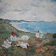 Original Copy By Karen Gilmore Of William Merrit Chase's Idle Hours Poster