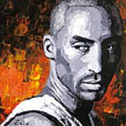 Original Palette Knife Painting Kobe Bryant Poster