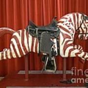Original Zebra Carousel Ride Poster