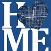 Orlando Street Map Home Heart - Orlando Florida Road Map In A He Poster