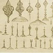 Ornamental Knobs Shaped As Domes Poster
