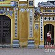 Ornate Buildings In The City Centre Of Hanoi Poster