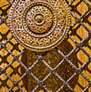 Ornate Door Knob Poster by Carolyn Marshall