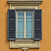 Ornate Window Of Rome Poster