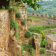 Orvieto Battlement Poster