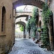 Orvieto Street With Arches Poster