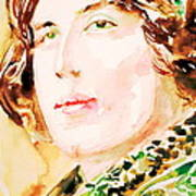 Oscar Wilde Watercolor Portrait.3 Poster