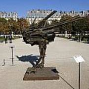 Ostrich Art At The Jardin Des Tuileries In Paris France Poster