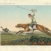 Ostrich Hunting Poster