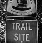 Oregon Trail Sign A Poster