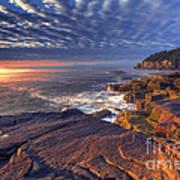 Otter Cove Sunrise Poster