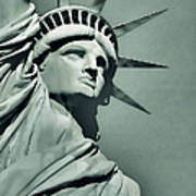 Our Lady Liberty - Verdigris Tone Poster