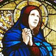 Our Lady Of Sorrows In Stained Glass Poster