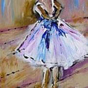 Our  Ballerina Girl Painting Poster