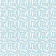 Out Of The Box Blue And White Pattern Poster