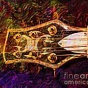 Out Of Tune Digital Guitar Art By Steven Langston Poster