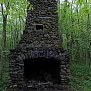 Outdoor Fireplace Poster
