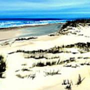 Outer Banks Sand Dunes Beach Ocean Poster