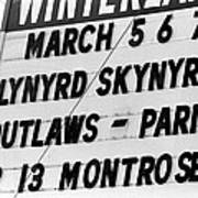 Winterland Marquee 3-6-76 Poster