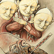 Over-pope-ulation - Cartoon Art Poster