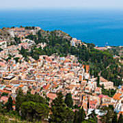 Over Taormina City Poster