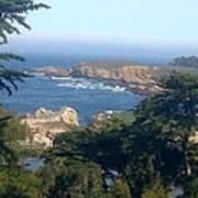 Overlooking Carmel Beach Poster