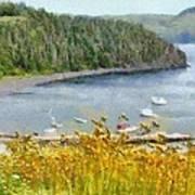 Overlooking The Harbor Poster