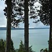 Overlooking The Ocean Poster
