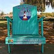 Oversized Beach Chair Poster