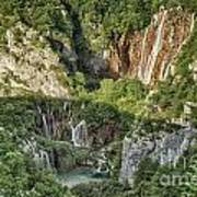 Overview Of Plitvice Poster