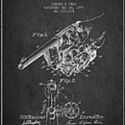 Owen Revolver Patent Drawing From 1899- Dark Poster