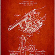 Owen Revolver Patent Drawing From 1899- Red Poster