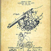 Owen Revolver Patent Drawing From 1899- Vintage Poster