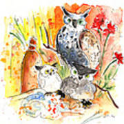 Owl Family In Velez Rubio Poster