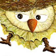 Owl Leaf 3 Poster