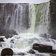 Oxarafoss Waterfall Poster