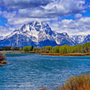 Oxbow Bend In Spring Poster