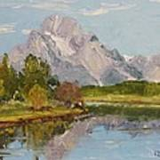 Oxbow View Mt. Moran Poster