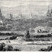 Oxford, From Headington Hill Poster