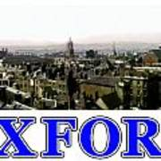 Oxford Snapshot Panorama Rooftops 2 Jgibney The Museum Zazzle Gifts Poster