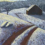 Ozark Winter Barn Poster